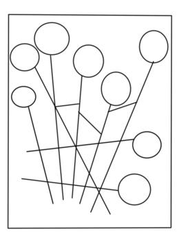 à la manière de CALDER-graphismes et coloriages