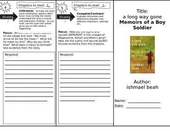a long way gone:  Memoirs of a Boy Soldier Reading Trifold