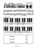 a natural minor scale (2 octaves) - Level One Technical Re