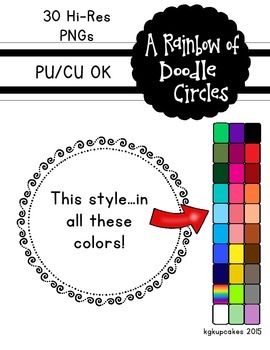 a rainbow of doodle circles_30 frames