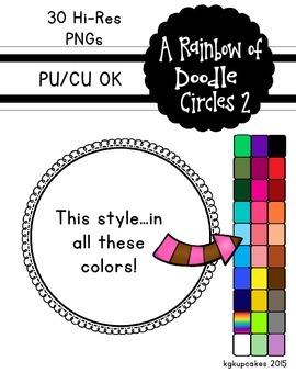 a rainbow of doodle circles 2_30 frames