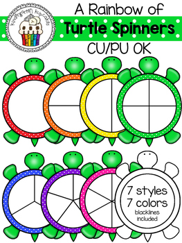 a rainbow of turtle spinners