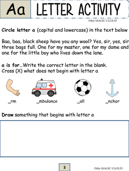 a to z activity book, letters tracing,printing, recognition, phonics ...