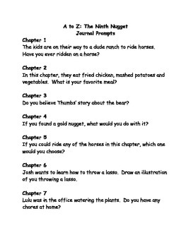 a to z mysteries the ninth nugget comprehension questions