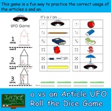 a vs an Article UFO Roll the Dice Game