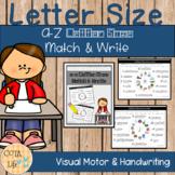 a-z Letter Size Match & Write