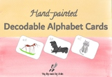 a-z hand painted flashcards