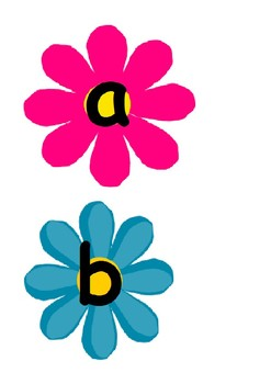 a-z on flowers