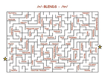 aMAZEing R! 20 mazes to practice the /r/ sound initial medial final blends