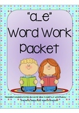 a_e Word Work Packet