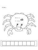 ab Family Crab Rhyme Word Slide