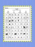 SCOTT FORESMAN Kindergarten lower-case letter search Worksheets.