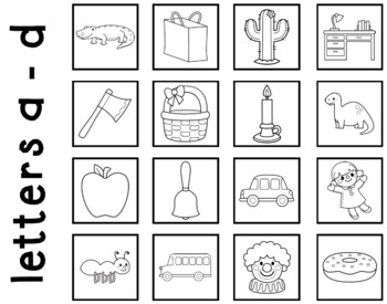 abc Circle Maps for Beginning Sounds