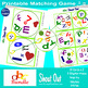 """abc lower case Matching Game Shout Out; 31-3"""" & 5"""" card; l"""