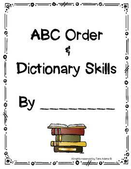 abc order and dictionary skills
