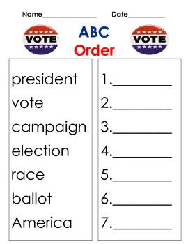 abc order election, voter, november, president