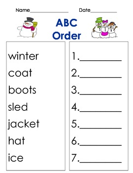 abc order winter