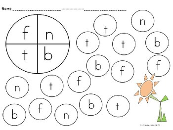 abc spin and dot practice pages NO PREP - PRINTABLES