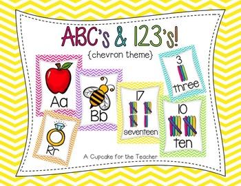 ABC's and 123's! {Chevron Theme}