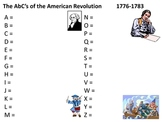 abc's of the american revolution project