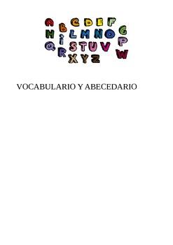 abecedario y vocabulario relacionado