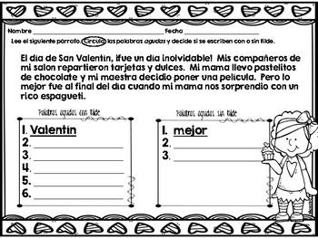 acentos/ tildes/ agudas/ graves/ esdrújulas Febrero