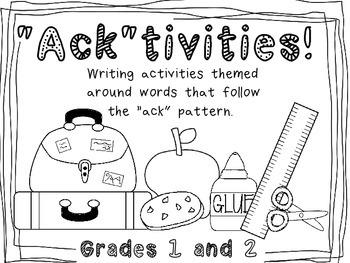 "Phonics: ""ack"" Writing Activities"