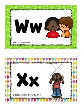 action alphabet_half page flashcards