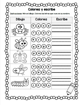 actividades de lectura - insectos/ insect bug literacy center activities Spanish