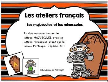 activité français Majuscule-minuscule La momie