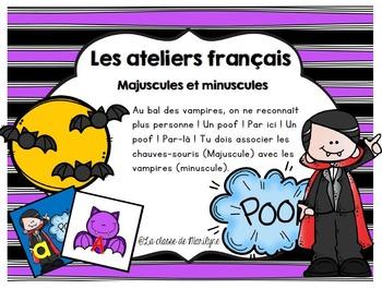 activité français association Majuscule/minuscule avec le vampire