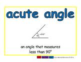 acute angle/angulo agudo geom 2-way blue/rojo