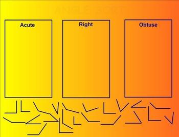 acute, obtuse and right angles smartboard lesson