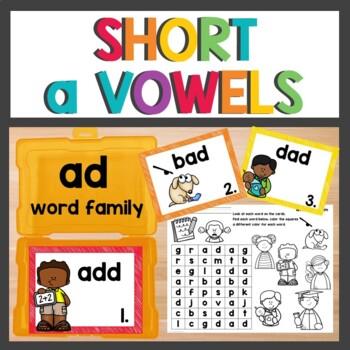 ad Word Family Phonics Packs