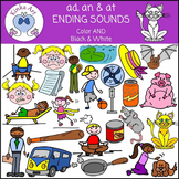 ad, an and at Ending Sounds Clip Art