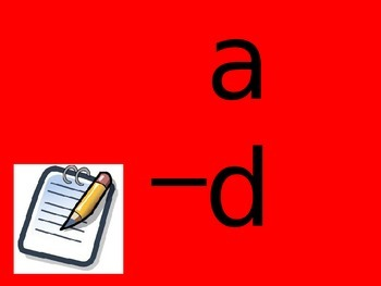ad word family powerpoint- QLD FONT (Australian Curriculum)