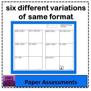 add /sub decimals exit slips