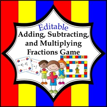 Add, Subtract, and Multiply Fractions Game