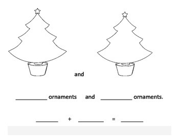 add with Christmas trees and snowmen