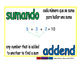 addend/sumando prim 1-way blue/verde