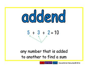 addend/sumando prim 2-way blue/rojo
