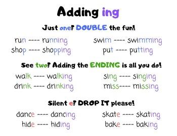 adding ing
