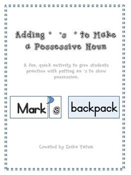 adding 's to nouns, possessive nouns, easy possessive intr
