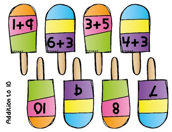 addition and subtraction POP quiz - a movement math activity