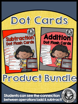 addition and subtraction dot cards fact fluency bundle