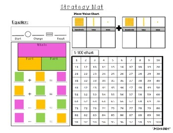 addition and subtraction strategy mat