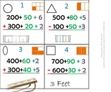 2nd Grade Math Calendar - add & sub with base ten, fractions, 2D shapes, measure