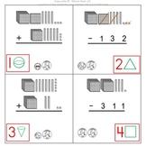1st Grade & 2nd Grade Math Calendar - add & sub, money, 2D & 3D shapes