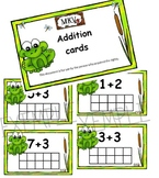 addition cards frog