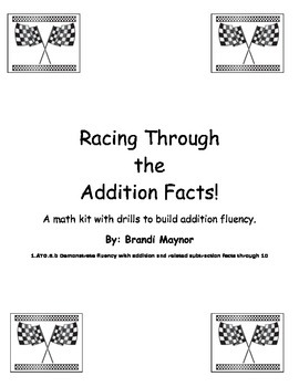 addition fluency practice with sums of 10 or less